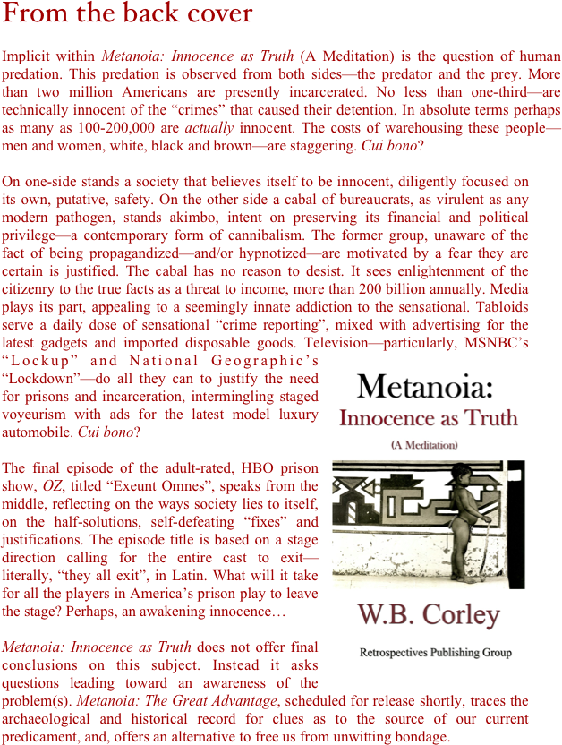 Metanoia: Innocence as Truth (A Meditation)
